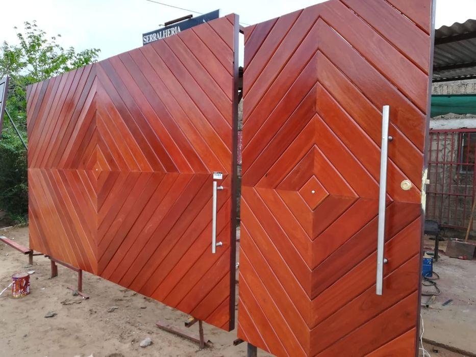 Fazemos portoes de madeira