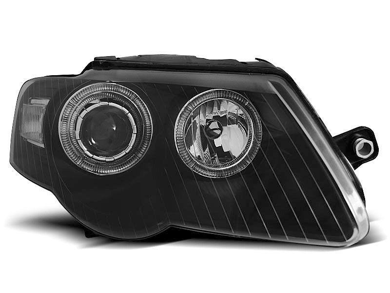 Faruri noi VW PASSAT B6 3C 03.05-10 negru angel eyes