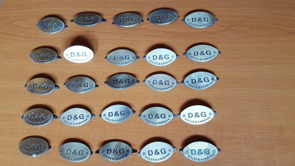Dolce & Gabbana Designer logo metalic/emblema pentru colectionari