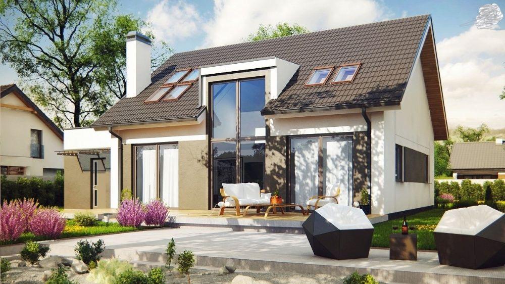 Kit casă lemn 230 mp +garaj 30 mp