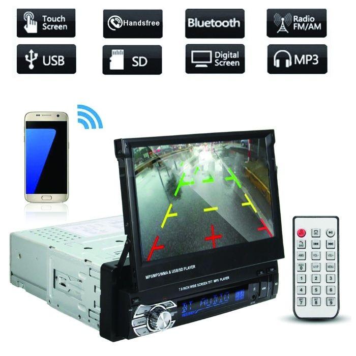 Универсална навигация за кола един дин с GPS, USB, 7 инча