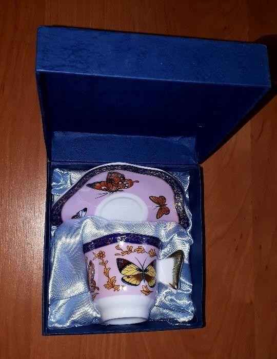 Подарочная чашка кофейная с блюдцем
