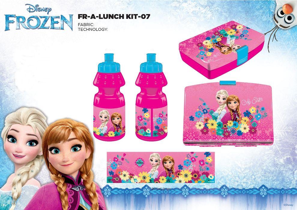 """Set cutie sandwich si sticla """"Frozen"""", cu licenta"""