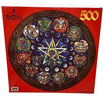 Puzzle rotund Alchemy Gothic Chaldean Lights 500 piese
