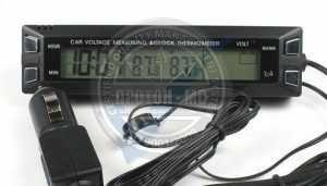 Дигитален волтметър, часовник и термометър за автомобил E30