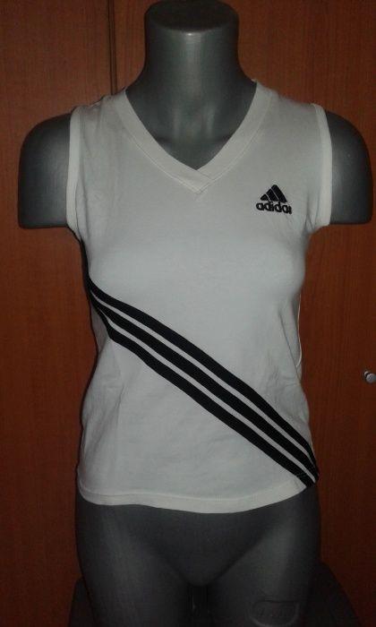 Tricou /Bluza kimono / Maiou alb cu negru Adidas , M