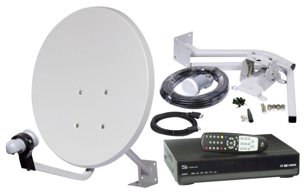 Установка и настройка спутниковых антенн и ресиверов.