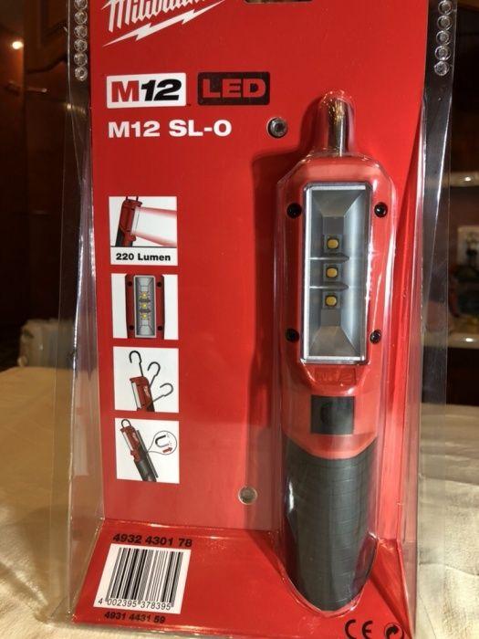 MILWAUKEE LED m12SL, lanterna, lampa, NOUA