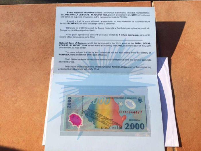 Vand /schimb bancnota de 2000 lei. Accept plata cu BitCoin