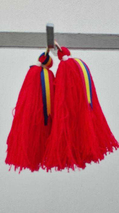 Set Ciucuri Cal: Melana / 2 buc. / Rosu (Art. #99A01) - Handmade