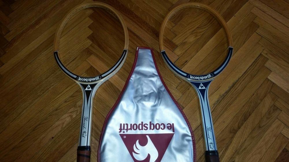 Rachete tenis de colectie din lemn Le coq sportif Yannick Noah