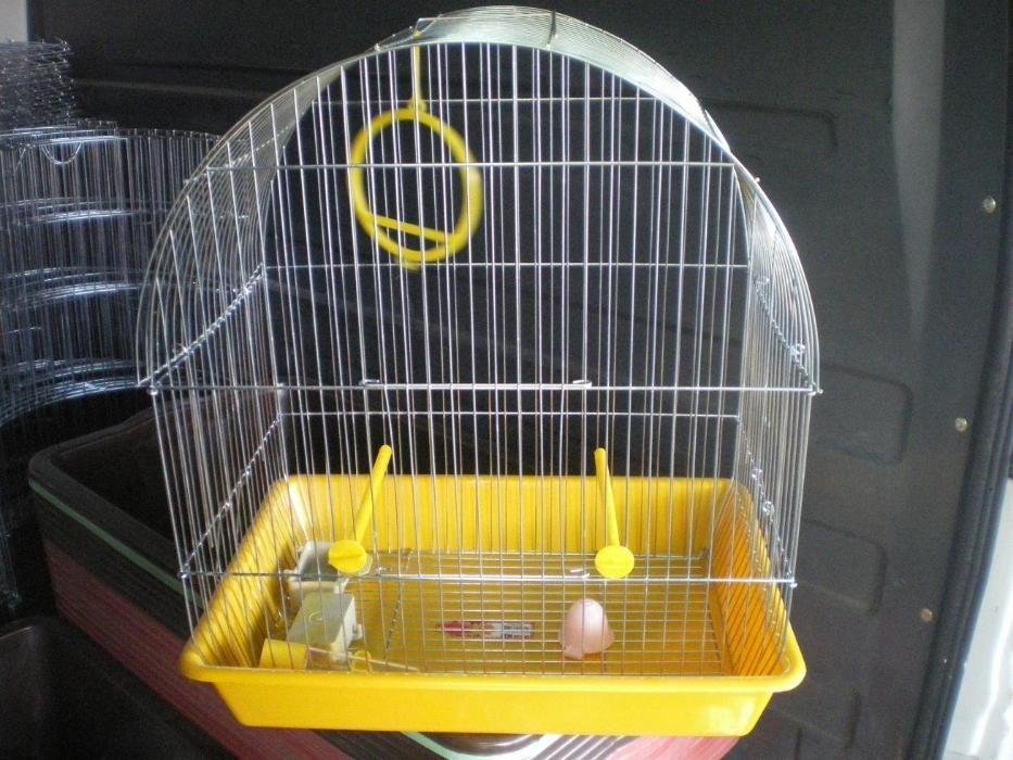 Клетка за птици средна L объл покрив за 1 или няколко папагали