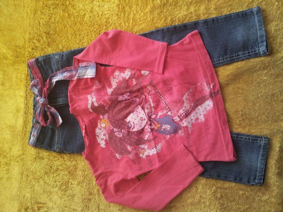 Лот дънки + блуза 116