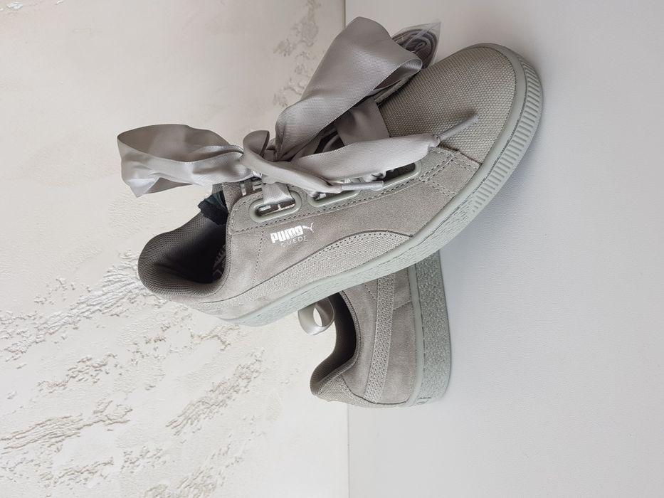 Sneakers Puma Suede Heart Pebble 365210 02 Noi Originali