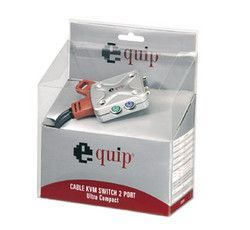 Mini Switch KVM PS2 con cables soldados 2 puertos marca EQUIP
