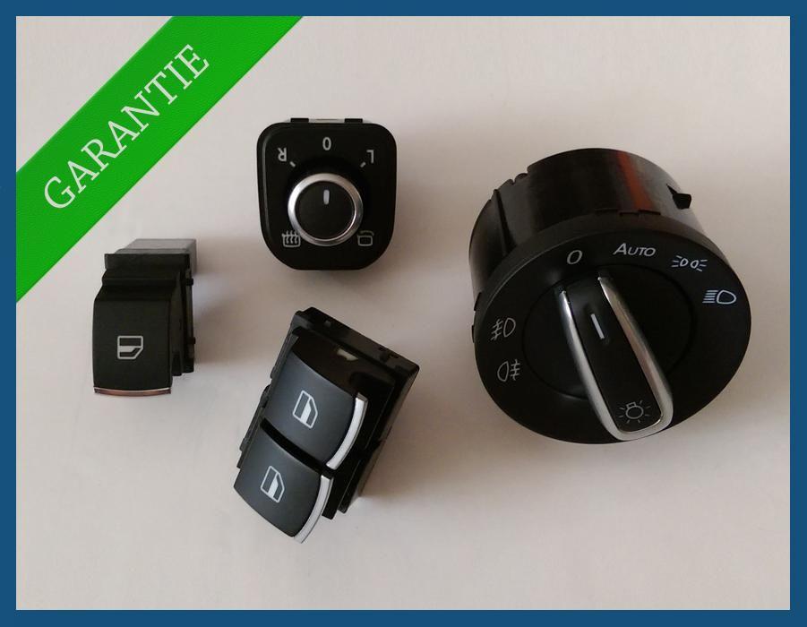 Set butoane 2 geamuri electrice cromate VW Golf 5 6 Passat B6 B7 SEAT