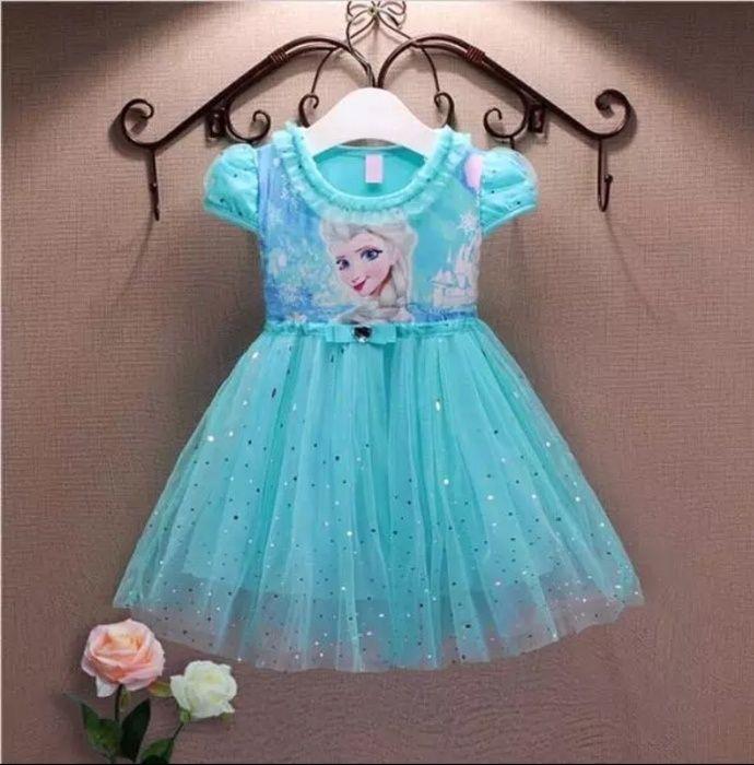 Rochie fete copii Elsa Frozen marime 100,110,120,130