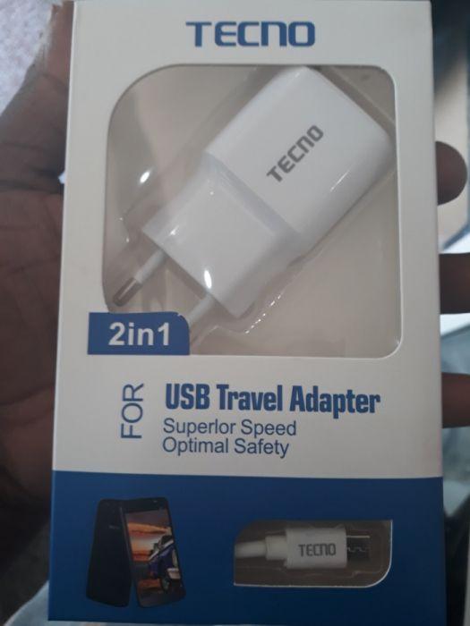 Carregador de Tecno adaptador e Cabo USB