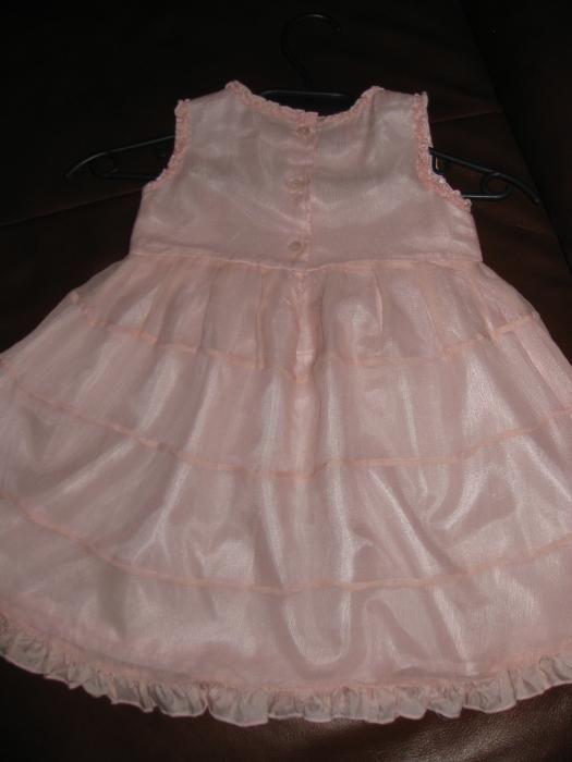 Копринена рокля Monsoon 6-12 мес.