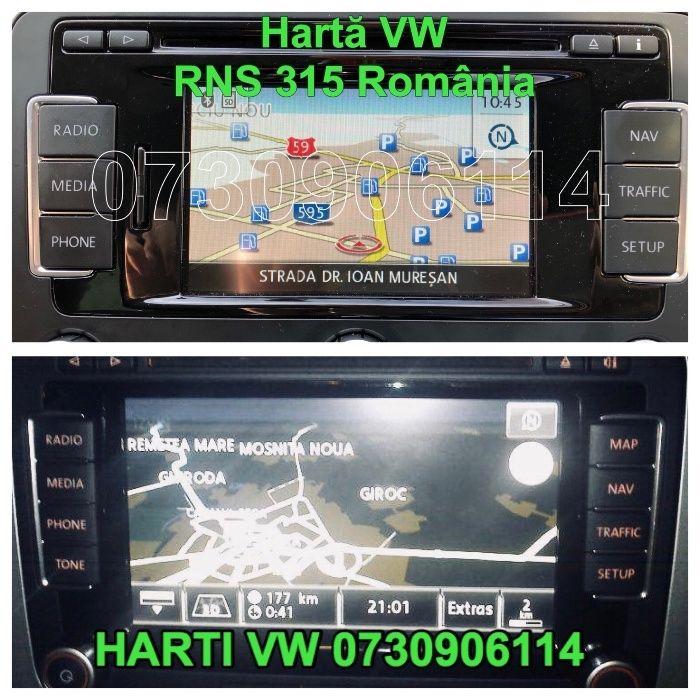 SD CARD navigatie VW RNS 315 510 Golf Passat Skoda Seat Romania 2018