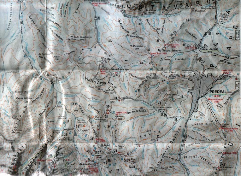 3 hărţi de munţi : Bucegi, Parâng, Retezat