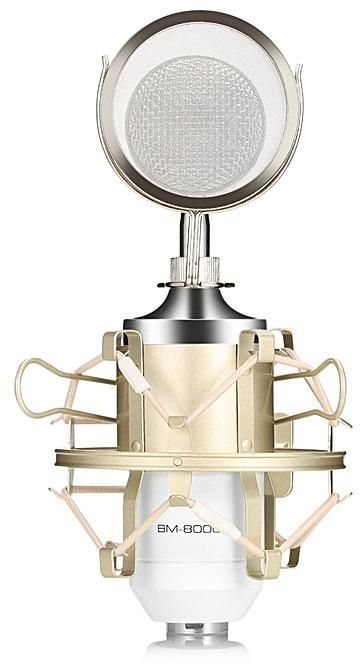 Microfon Leihao studio BM8000 profesional, DJ, Jocuri, Vlogger, video