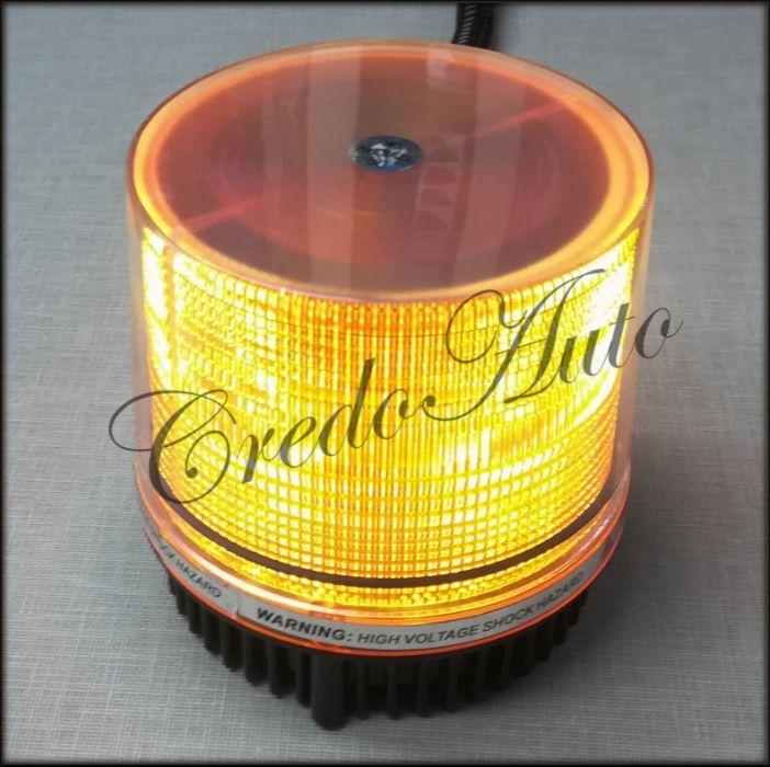 Ново!LED Авариен сигнален оранжев буркан 12-24V