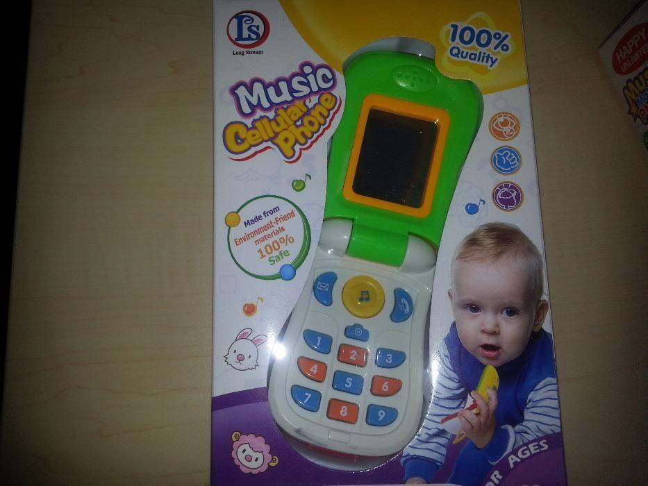 Музикален телефон нов и дървени пъзели