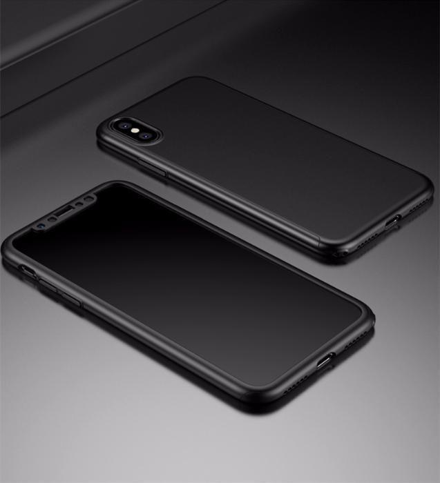 Защита на 360 градуса мат кейс калъф за iPhone X, XS, XR, XS Max