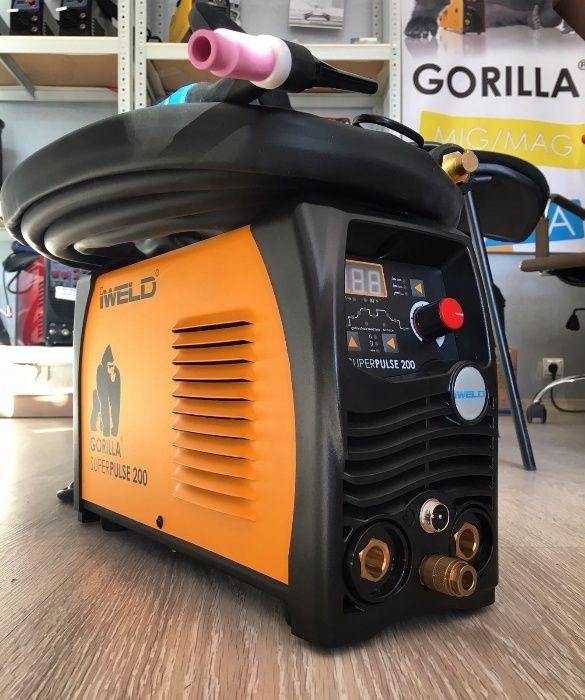 Aparat sudura TIG / WIG Gorilla Superpulse 200