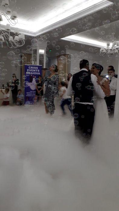 Fum greu cu gheață carbonica dansul mirilor