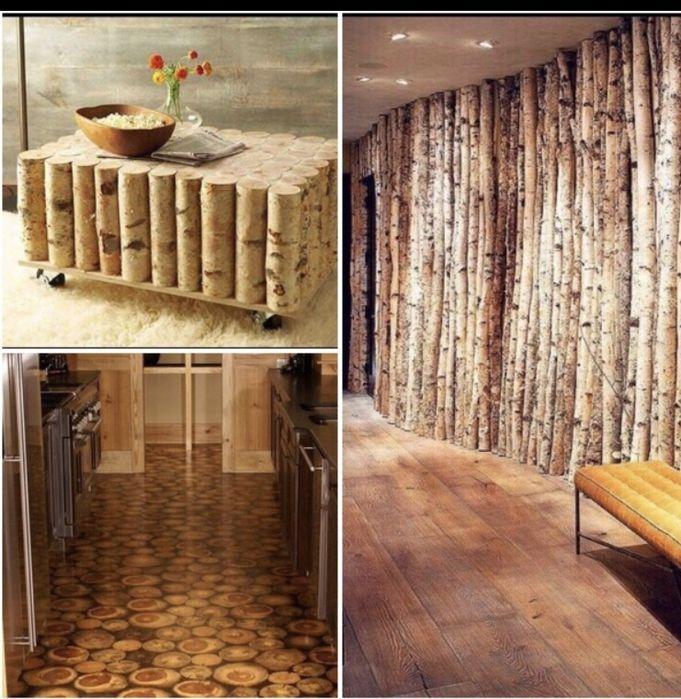 Mesteacăn decorativ și rondele din lemne