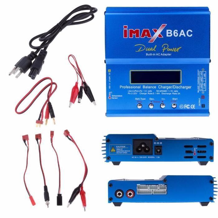 Incarcator IMAX B6AC pt baterii LiPo LiIon/LiPo/LiFe - 2S-6S navomodel