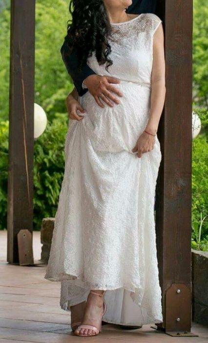Винтидж дантелена Сватбена рокля