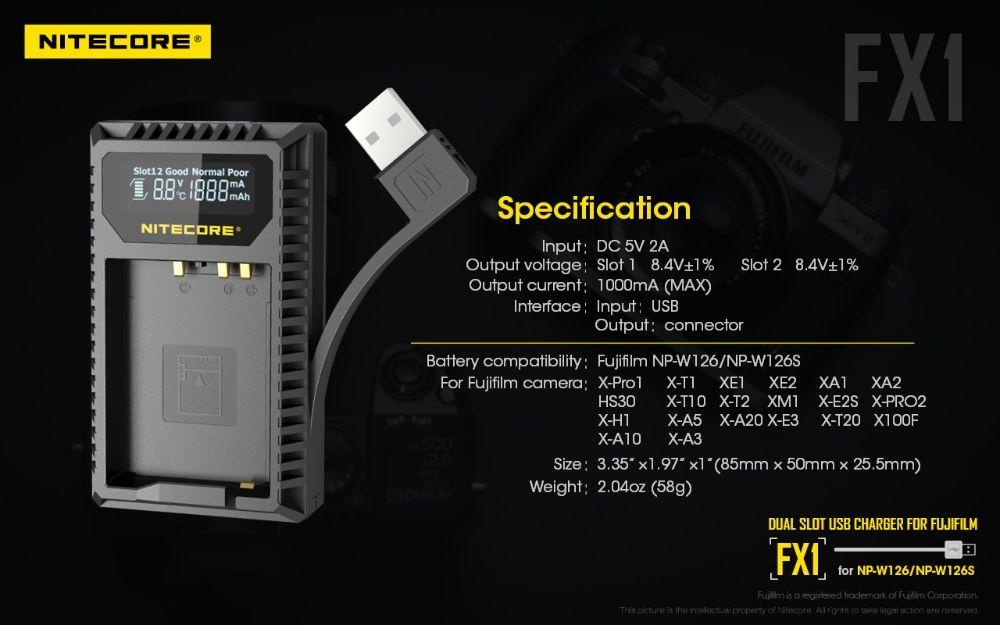 USB зарядно за батерии, за фотоапарати Fuji