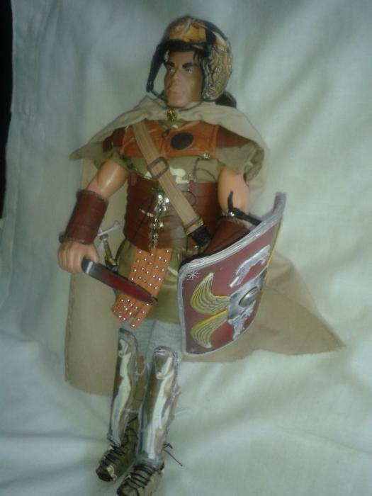 figurina 1/6 legionar soldat roman cu gladius scut casca si accesorii