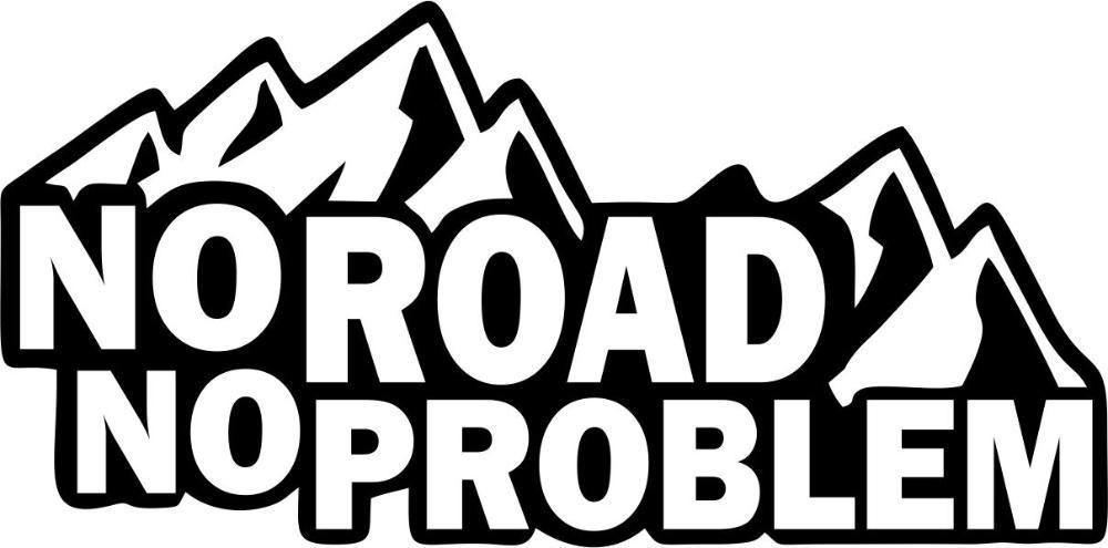 стикер No road No problem