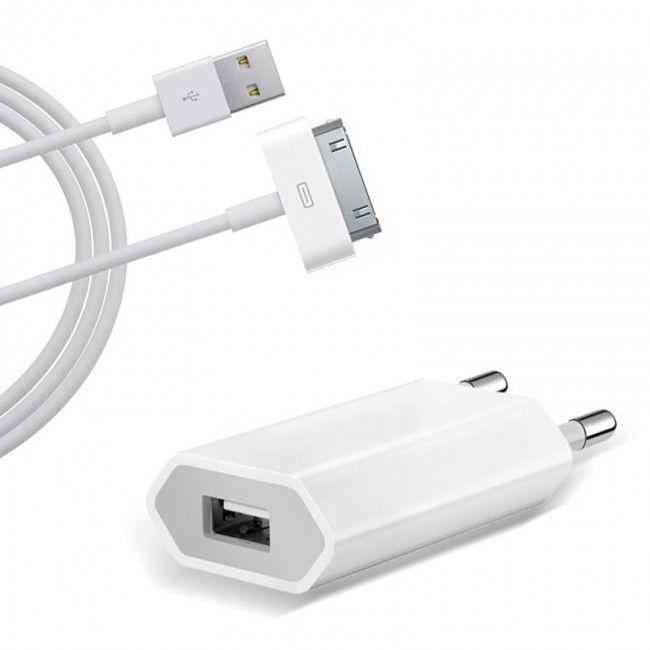 Incarcator Priza iPhone 4, 4S + Cablu de date