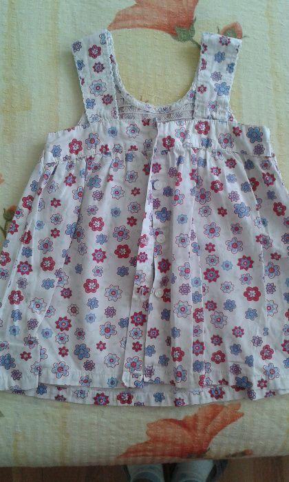 Rochie alba cu floricele -80