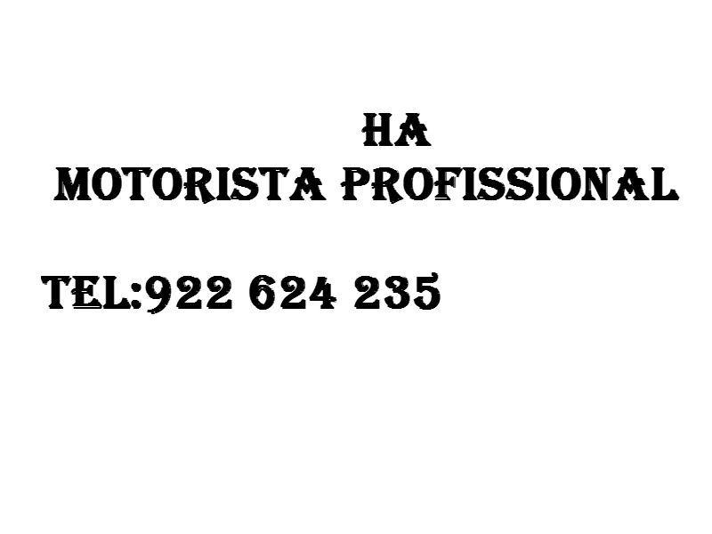 HA motorista profissional