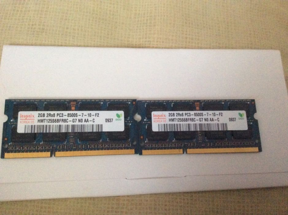 Kit memorii originale Macbook 2X2 GB