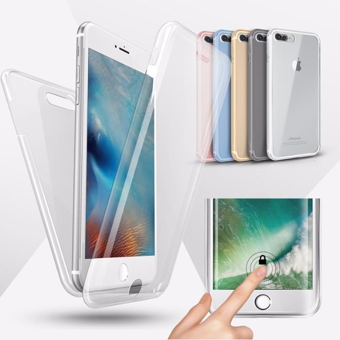 Husa 360 Fata/Spate Silicon Clar Slim 0.3mm - Iphone 6 6S+ 7 7+ 8 8+