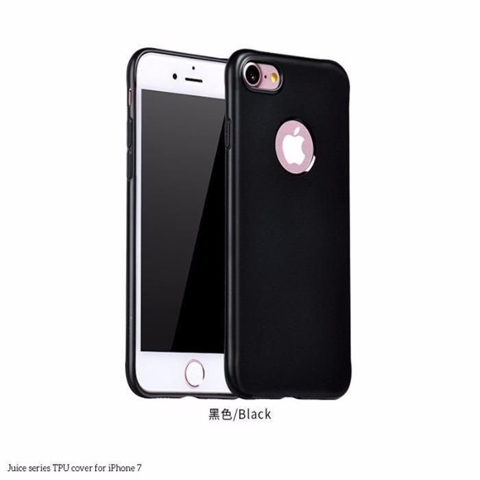 iPhone 7 7 Plus 8 8 Plus - Husa Neagra Subtire Din Silicon