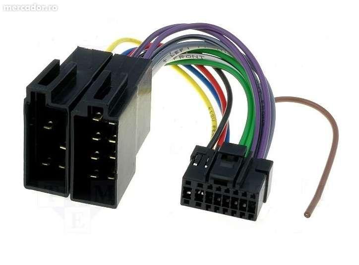 Adaptor mufa radio CD auto Euro-ISO la aparate Panasonic cu / fara USB