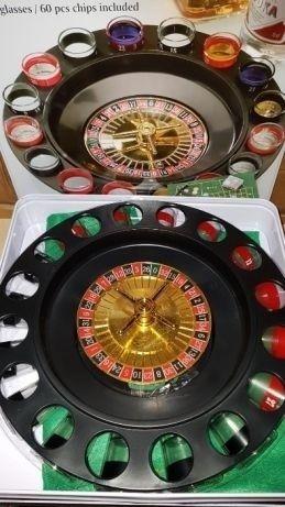 Joc Ruleta Casino cu Pahare din Sticla