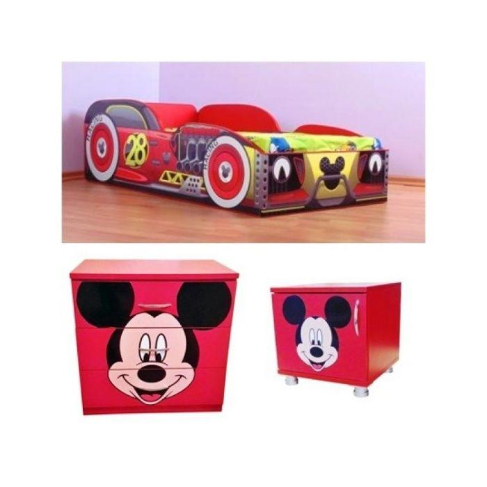 Promo Mickey si multe alte modele -pat+comoda-noptiera cadou