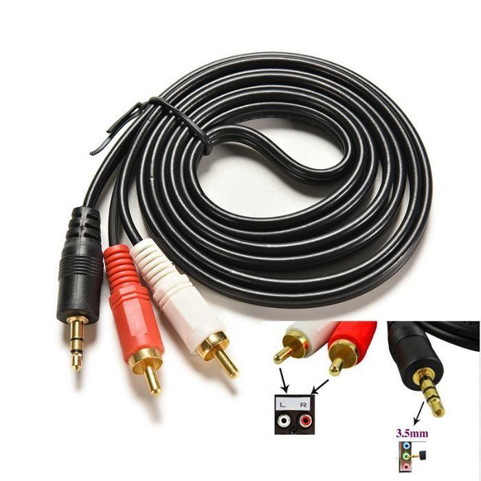 Кабел Стерео жак на 2 чинча 1.5 м. по-дебел SS000035 Cable 3.5mm-M/2X