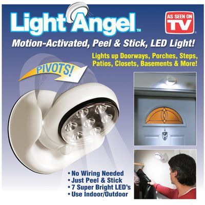 Lampa Bec fara fir 7 LED cu senzor miscare, usor de instalat!