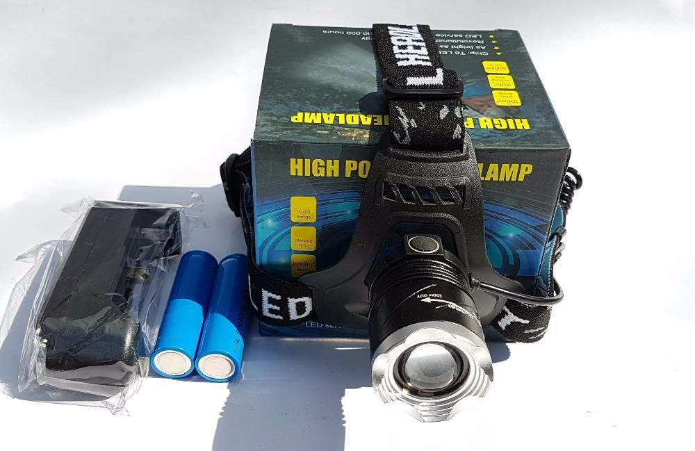 Lanterna frontala Zoom LED CREE acumulatori LiIon lanterna de cap