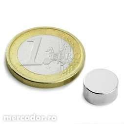 Magnet disc cu Forta 2,4 kg, 10/5 mm foarte puternic Neodim,Neodymium